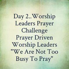 Worship Leaders Prayer Challenge