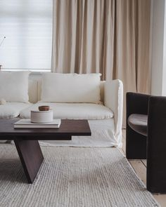 Kitchen - and Furniture Design ( Ikea Sofa, Eye For Detail, Muted Colors, Beautiful Space, Interior Inspiration, Dining Bench, Love Seat, Furniture Design, Living Room