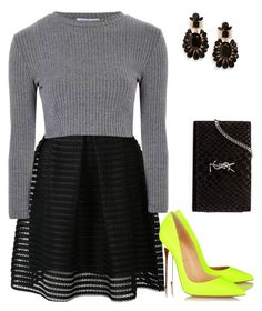 """""""Untitled #1152"""" by lauraafreedom ❤ liked on Polyvore featuring Girly, Yves Saint Laurent, Glamorous and Christian Louboutin"""