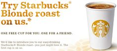 *HOT*: FREE Tall Cup of Starbucks Coffee for You And A Friend!