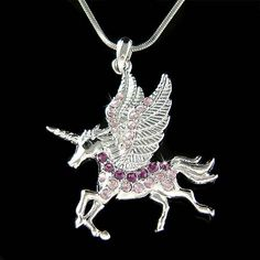 Simulated DIAMOND /Austrian Rhinestone Purple Unicorn Pendant with Swarovski crystals & Silver finish Snake Chain Necklace. You are getting a Mythology Creature - Purple Unicorn Pendant with Swarovski crystals. Unicorn Jewelry, Unicorn Necklace, Fairy Jewelry, Wedding Gifts For Women, Gift Wedding, Purple Unicorn, Real Unicorn, Rainbow Unicorn, Unicorn Pictures
