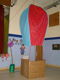 Hot air balloon we made at my sons preschool graduation this year.  Our theme was Dr. Seuss's Oh, The Places We'll Go.