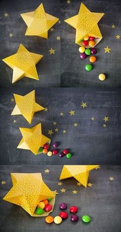 Querida Claudina: DIY: Cajitas en forma de estrella