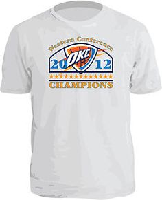 WESTERN CONFERENCE CHAMPIONS! GOOO THUNDER! ONLY $12.95 ON EBAY