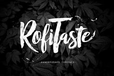 RofiTaste Typeface by alit design on @creativemarket