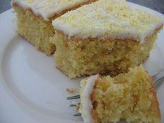 Lemon Coconut Slice recipe