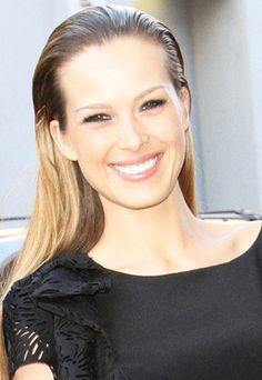petra nemcova's slicked back hair