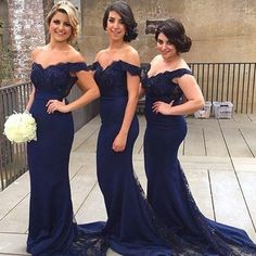 Elegant Stpaghetti Straps Long Bridesmaid Dresses Beaded Lace Women Wedding Party Dress Navy Blue Sexy Vestido Invitada Boda Largo Maxi Bridesmaid Dresses Midnight Blue Bridesmaid Dresses From Sunnybridalone, $120.61| Dhgate.Com