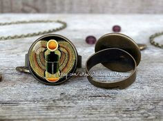 Scarab ring Scarab adjustable ring Scarab jewelry by OdalisqueShop