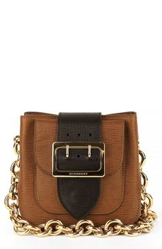 Burberry 'Small Belt Bag' Leather & House Check Shoulder Bag available at #Nordstrom