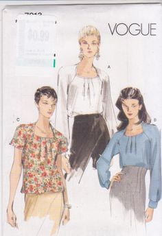 Sewing pattern for short or long sleeved loose by beththebooklady, $9.99