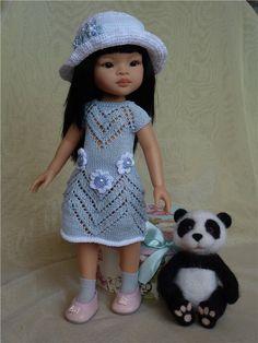 Вязаный комплект для куколок Паола Рейна и других, ростом 32-35см. / Одежда для кукол / Шопик. Продать купить куклу / Бэйбики. Куклы фото. Одежда для кукол