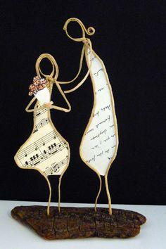 Bonne fête maman ! - Figurines en ficelle et papier