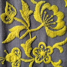 Yellow Embroidery Flowers