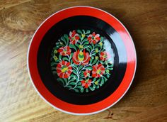 Vintage Hungarian Hollohaza Porcelain handpainted by Trashtiques, $52.00