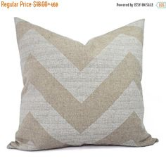 15% OFF SALE Two Chevron Decorative Throw Pillow Covers - White and Cream Pillow Covers - Rustic Pillows - Burlap Cushion Cover -Beige Pillo by CastawayCoveDecor
