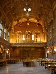 The great hall at Kings College, Cambridge