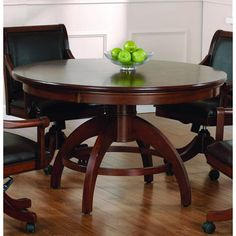 Palm Springs Game Table in Medium Brown Cherry - Hillsdale - - Hillsdale Furniture Game Table And Chairs, Table Games, Dining Table, Game Tables, Dining Room, Game Room Furniture, Furniture Sale, Furniture Decor, Cheap Bar Stools