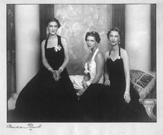 Sisters , Princesses of Greece and Denmark: Marina, Duchess of Kent, Elisabeth of Toerring- Jettenbach and Queen olga of yugoslavia.