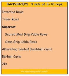 Back/Bicep workout from My Mission Impossible #FitFluential