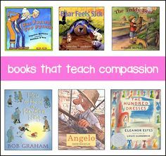 adorable & inspirational books for kids -- each one teaches compassion and caring! Great book site!