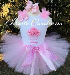Pretty Pink--3D Cupcake--Baby Girl 1st Birthday Tutu Set--Party Outfit-- Photo Prop on Etsy, $65.00