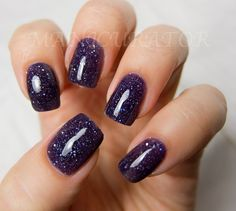 Witch Way Nail Polish - Purple Holographic Nail Lacquer 0.5 oz Full Sized Bottle. $8.75, via Etsy.