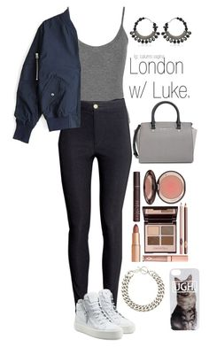 """""""Untitled #381"""" by madelin-ruby ❤ liked on Polyvore featuring Givenchy, Yves Saint Laurent, WearAll, H&M, Acne Studios, Giuseppe Zanotti, MICHAEL Michael Kors and Charlotte Tilbury"""