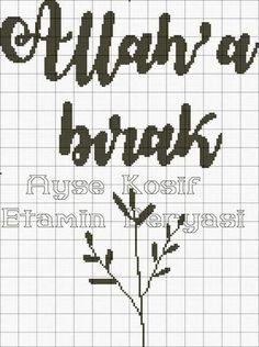 Cross Stitch Charts, Cross Stitch Patterns, Bohemian Baby Nurseries, Embroidery Kits, Cross Stitching, Alphabet, Islam, Handmade, Crossstitch