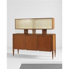 GIO PONTI - Cabinet with superstructure, model nos. 2160 and 2164, 1950s