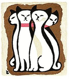 Four Cats by Tomoo Inagaki
