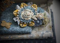 Брошь Сен-Тропе - бирюзовый,украшения ручной работы,брошь,брошь цветок