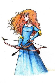 An anime drawing of Merida from the new Pixar movie Brave! I am going to draw one now! Arte Disney, Disney Fan Art, Disney Love, Disney Princess Merida, Disney Princess Drawings, Brave Princess, Drawing Disney, Cartoon Girl Drawing, Cartoon Drawings