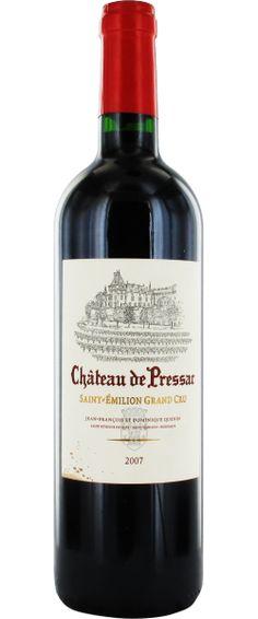 Château de Pressac 2007 - Saint-Émilion Grand Cru - 15/20 : Un vin léger, élégant, de demi-corps, gracieux, avec une belle palette aromatique.  En savoir plus : http://avis-vin.lefigaro.fr/vins-champagne/bordeaux/rive-droite/saint-emilion-grand-cru/d14429-chateau-de-pressac/v14430-chateau-de-pressac/vin-rouge/2007#ixzz3PM8Ct6I0