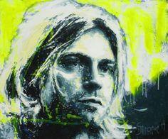 Club 27 - Kurt www. Portrait Art, Club, Kurt Cobain, Canvas, Acrylics, Paintings, Kunst, Paint, Painting Art