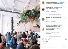 Restaurants et Instagram : le mix parfait ? Angel Hair, Nyc Restaurants, West Village, Photo Instagram, Parfait, Marketing, Plants, Plant, Planting