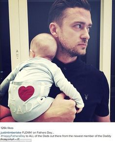 Justin Timberlake shares photo with son silas on Father's Day... - https://www.nollywoodfreaks.com/justin-timberlake-shares-photo-with-son-silas-on-fathers-day/
