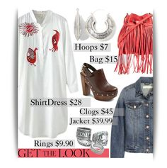 """""""Weekend Style Under $150"""" by maranella ❤ liked on Polyvore featuring H&M, Glamorous, Farylrobin, Decree and GetTheLook"""