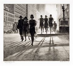 Martin Lewis (Australian, 1881-1962)  Shadow Dance  1930   Drypoint and sandpaper ground