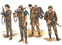 """Battleground Lebanon""  • Lebanese Forces female officer, Beirut 1982  • Lebanese Forces M113 APC commander, Beka'a Valley 1985  • Lebanese Forces anti-tank commando, Northern Lebanon, 1986  • South Lebanon Army (SLA) militiaman, South Lebanon, 1989   Ronald Volstad"