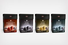 Coffee capsules range and logo design for MP, a brand from Spar Spain. By @le…