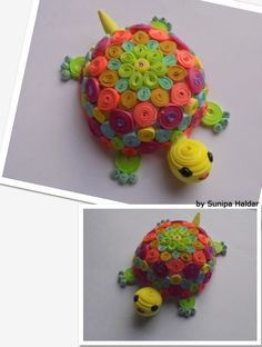 paper quilled turtle