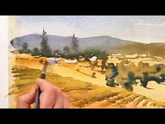 Watercolor Painting Demo Abacela View Part II, Vinita Pappas