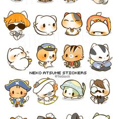 Neko atsume stickers