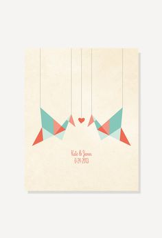 1st Anniversary Gift Paper Cranes Origami Birds  by ColorbeeLove, $18.00