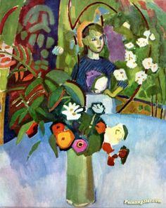 Among the Flowers Artwork by Raoul Dufy Hand-painted and Art Prints on canvas for sale,you can custom the size and frame