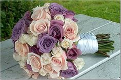 white and purple bridesmaids bouquets | Wedding Flowers Saturdays: Purple Wedding Flowers for Trendy Spring ...