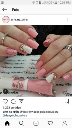 Sophisticated Nails, Stylish Nails, Diamante Nails, Queen Nails, Nails Only, Wedding Nails Design, Girls Nails, Flower Nails, Finger