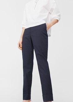 Pantalón lunares   MANGO