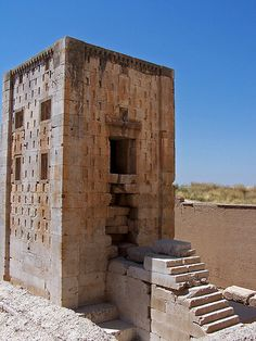 Kaabah-e Zardusht (Cube of Zoroaster), a copy of a sister building at Pasargadae  #Achaemenids